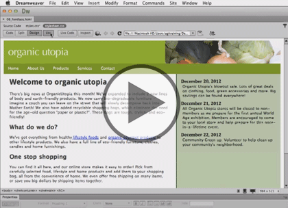 Dreamweaver CC, Part 2: Text and Images